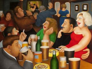 Beryl Cook, Karaoke (CSG CIC Glasgow Museums Collection / © the artist's estate)