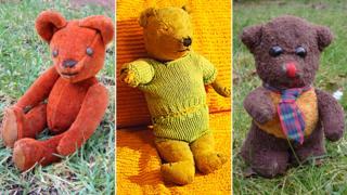 Three readers' bears