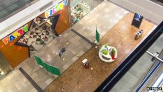 Scene after shopping centre fall