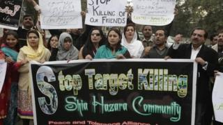 Protest against attacks on Shia Hazaras in Lahore - 14 January