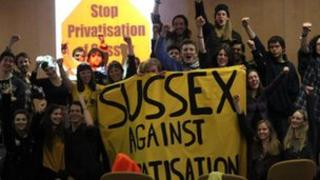 Students occupy university buildings