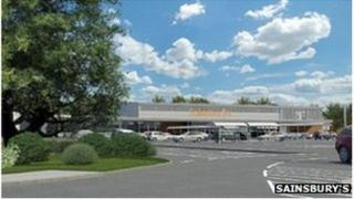 Proposed Sainsbury's in Westfield