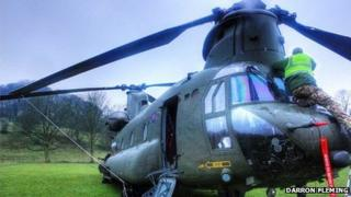 Chinook in Rowsley on 9 February