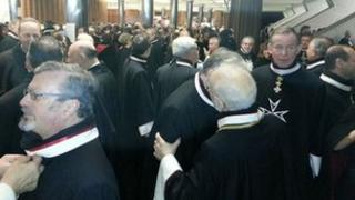 Knights of Malta at ceremonies marking the 900th anniversary of the order