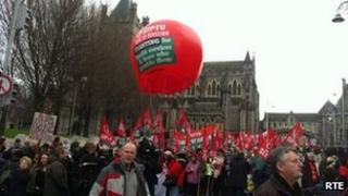 ICTU rally in Dublin