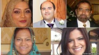Bilques Hayat, Mohammed Isshaq, Shaukat Ali Hayat, Abida Hayat a Saira Zenub