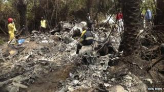 Site of the plane crash