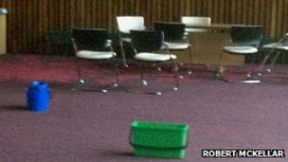 Leaky Corby council chamber