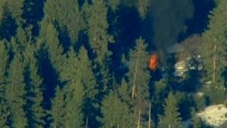 Cabin where Christopher Dorner is suspected to be holed up