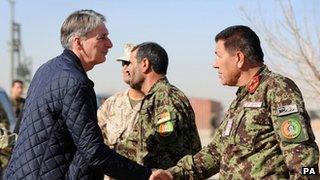 Philip Hammond meets senior Afghan