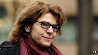 Vicky Pryce outside Southwark Crown Court