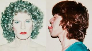 Andy Warhol and Mick Jagger by Andy Warhol