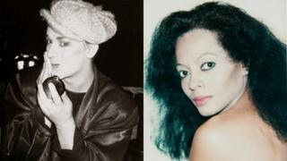 Boy George and Diana Ross by Andy Warhol