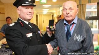 Warwickshire deputy chief fire officer Gary Phillips and Lionel Clarke