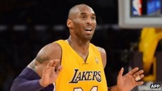 Kobe Bryant in Los Angeles, 12 February 2013