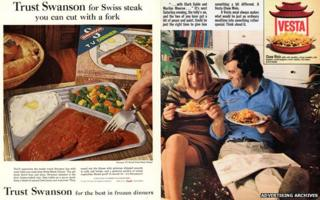 Swanson and Vesta adverts from 1960s and 70s
