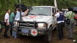 International Committee of the Red Cross vehicle in Colombia