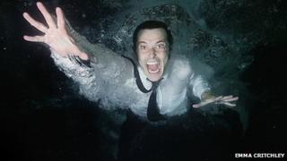In The Beginning Was The End promotional photo of drowning man