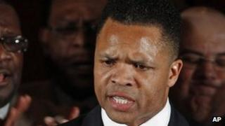 Jesse Jackson Jr in Chicago, Illinois March 2012