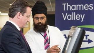 David Cameron and Parmvir Singh