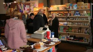 Chalford Community Stores trades out of the local parish church