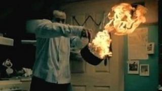 Still from a fire safety video