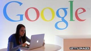 Google employee at desk