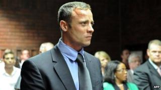 Oscar Pistorius in court, 19 February 2013