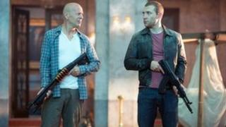 Bruce Willis with Jai Courtney in A Good Day to Die Hard