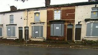 Vacant houses in Liverpool