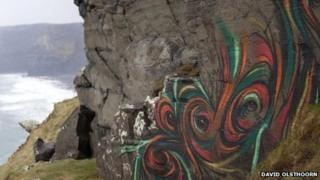 Graffiti on the Cliffs of Moher in County Clare