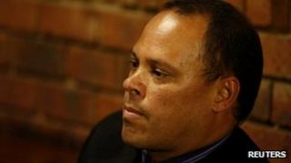 South African Detective Hilton Botha in court during the Oscar Pistorius bail hearing, 21 February
