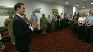 Chancellor George Osborne at Fisher House in Birmingham