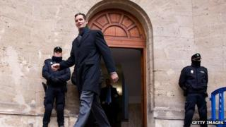 Inaki Urdangarin leaving court in Palma de Mallorca (23 Feb)