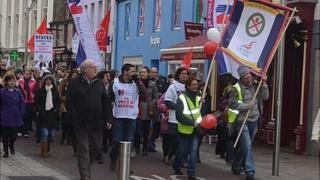 Jersey nurses pay protest march