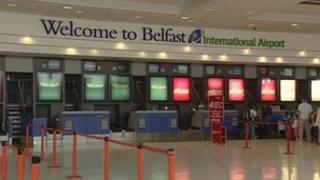 Interior of Belfast International Airport