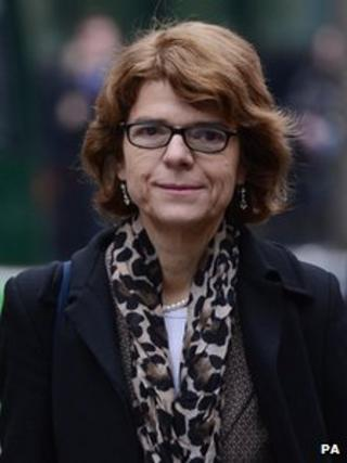 Vicky Pryce arriving at Southwark Crown Court on 25 February 2013