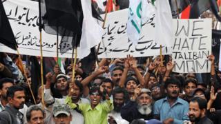 March against Taliban in Karachi - 2009