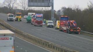 The crash happened north of Burton-in-Kendal