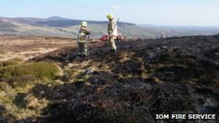 Heath land fire damage in the Isle of Man
