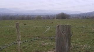 This field is where one of the proposed sites is