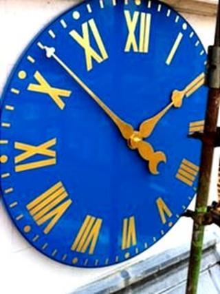 The restored clock at Felbrigg Hall