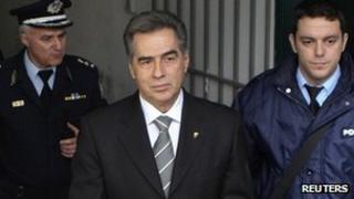 Vassilis Papageorgopoulos at court. 27 Feb 2013