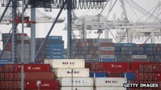 Container port in California