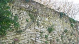 Wall in Ludlow