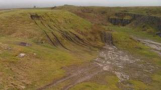 Off-roading damage at Faulds Brow, Caldbeck