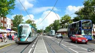 Artist's impression of Clifton tram