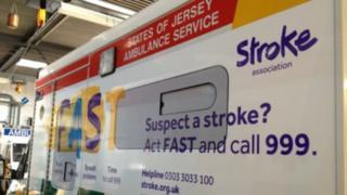 Ambulance with new stroke branding