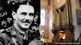 Wilfred Owen and the organ at Christ Church