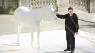Mark Wallinger with The White Horse